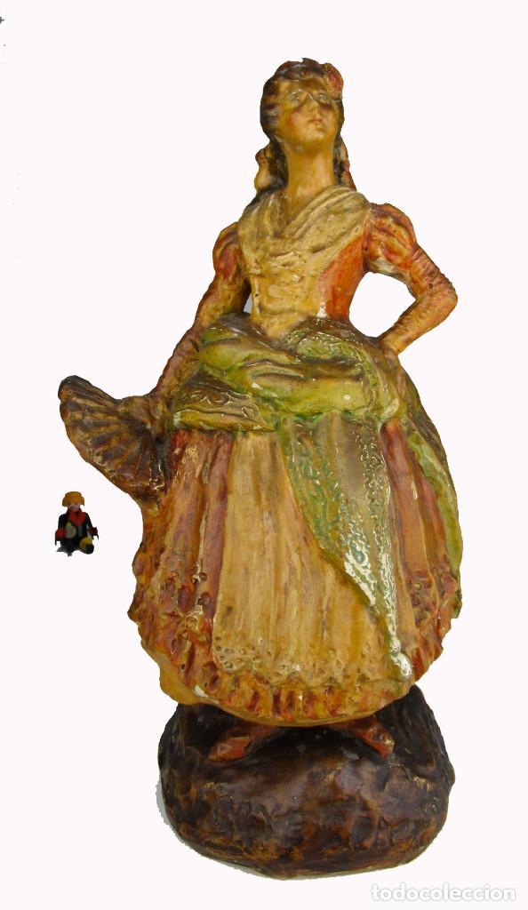 FIGURA ANTIGUA DE MUSEO! ESTILO Y EPOCA PEYRO, DAMA GOYESCA TORRENTE 1927 MANOLA (Antigüedades - Hogar y Decoración - Figuras Antiguas)