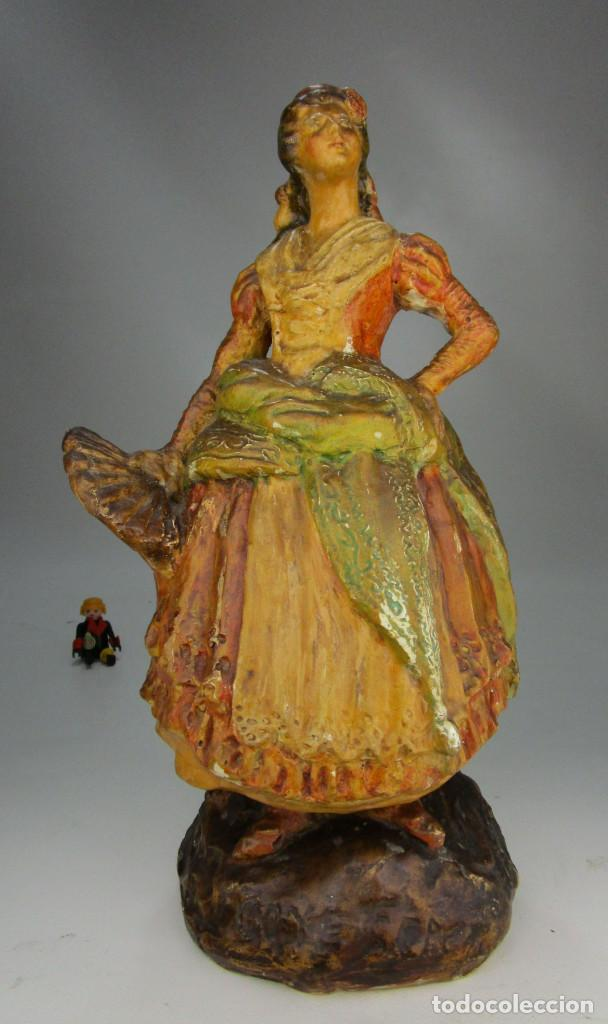 Antigüedades: FIGURA ANTIGUA DE MUSEO! ESTILO Y EPOCA PEYRO, DAMA GOYESCA TORRENTE 1927 MANOLA - Foto 2 - 135835322