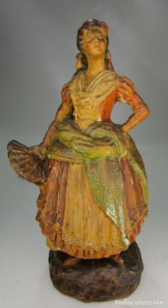 Antigüedades: FIGURA ANTIGUA DE MUSEO! ESTILO Y EPOCA PEYRO, DAMA GOYESCA TORRENTE 1927 MANOLA - Foto 3 - 135835322