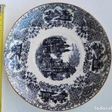 Antigüedades: PLATO DE PORCELANA DE PICKMAN, CARTUJA DE SEVILLA. DE 19CM.. Lote 135846490
