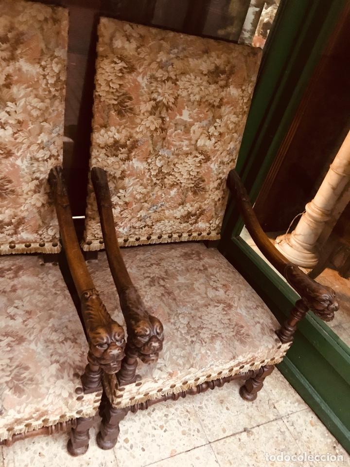 Antigüedades: Pareja de sillones tallados. - Foto 2 - 135865463