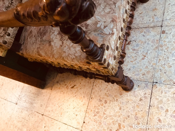 Antigüedades: Pareja de sillones tallados. - Foto 4 - 135865463