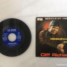 Discos de vinilo: CLIFF RICHARD. CONGRATULATIONS. EUROVISION 1968. Lote 135878250