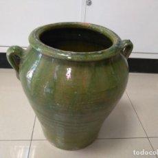 Antigüedades: ANTIGUA ORZA VIDRIADA VALENCIA CHIVA FIRMADO VICENTE MUÑOZ. Lote 135896518