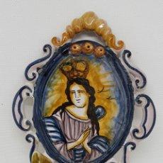 Antigüedades: BENDITERA CERAMICA - 19 CM - CAR69. Lote 135954798
