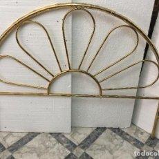 Antigüedades: CABECERO DORADO VINTAGE. Lote 136002346