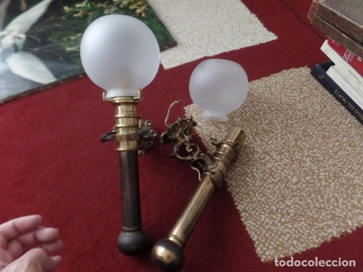 APLIQUES PARED DE BRONCE (Antigüedades - Iluminación - Apliques Antiguos)