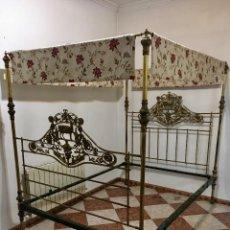 Antigüedades: CAMA VICTORIANA CON DOSEL. Lote 136015670