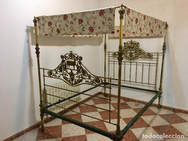 Antigüedades: CAMA VICTORIANA CON DOSEL - Foto 5 - 136015670