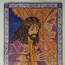 Antigüedades: MOSAICO AZULEJOS A. RUIZ DE LUNA - NTRO PADRE JESÚS NAZARENO. Lote 136034221