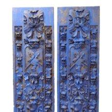 Antigüedades: ANTIGUAS TABLAS DE RESINA, DORADO Y AZUL ARAGONÉS, HOTEL MELIÁ , ZARAGOZA. Lote 136058518