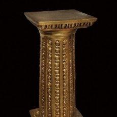 Antigüedades: ANTIGUA PEANA, COLUMNA, DE YESO PRECIOSA. Lote 136060214