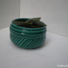 Antigüedades: PEQUEÑO MACETERO DE CERAMICA VIDRIADA SELLADO BONDIA // MANISES. Lote 136098850