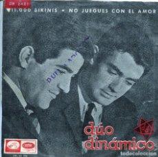 Discos de vinilo: DUO DINAMICO / 11.000 BIKINIS / NO JUEGUES CON EL AMOR (SINGLE 1965). Lote 136101354