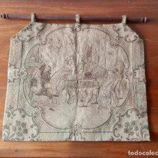 Antigüedades: TAPIZ DECORATIVO. ESCUELA FRANCESA. SIGLO XVIII.. Lote 136114902