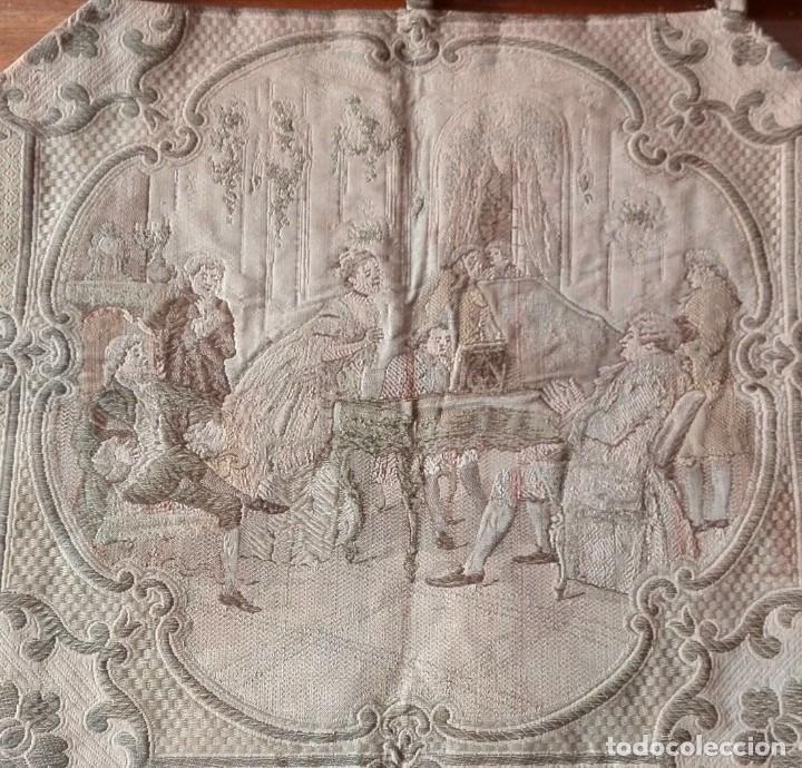 Antigüedades: Tapiz decorativo. Escuela Francesa. Siglo XVIII. - Foto 2 - 136114902