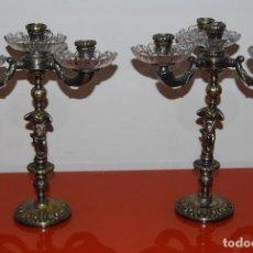 Antiques - PAREJA CANDELABROS - 136139454
