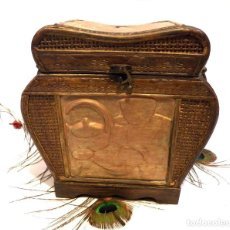 Antigüedades: CAJA COCINA, CAJA MIMBRE, CAJA GALLETAS, CAJA CARAMELOS, CAJA CHOCOLATE. Lote 136152322