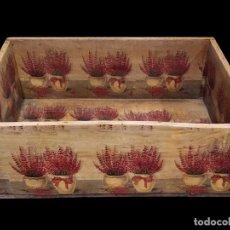 Antigüedades - Antigua caja, decorada al estilo antiguo, brezo, ideal, Unica - 136176046