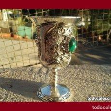 Antigüedades: PRECIOSO CALIZ DE PLATA TIBETANA EN EXCELENTE ESTADO DE CONSERVACION.. Lote 136196326