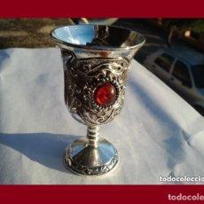 Antigüedades: PRECIOSO CALIZ DE PLATA TIBETANA EN EXCELENTE ESTADO DE CONSERVACION.. Lote 136196926