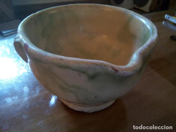 * MORTERO DE LA BISBAL.S,XIX. (RF:BC/*) (Antigüedades - Porcelanas y Cerámicas - La Bisbal)