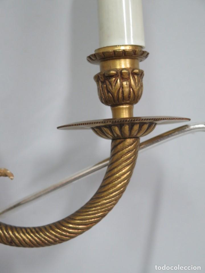 Antigüedades: APLIQUE DE BRONCE DORADO. ESTILO LUIS XVI - Foto 3 - 136205202