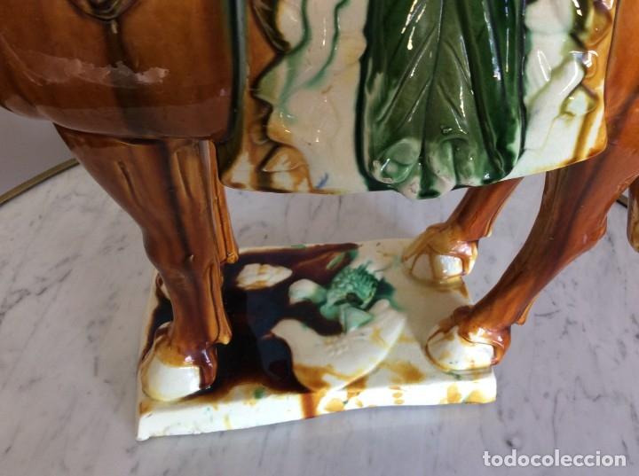 Antigüedades: Caballo porcelana china - Foto 3 - 85187255