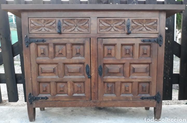 Mueble antiguo castellano de cuarterones madera comprar - Muebles antiguos cordoba ...