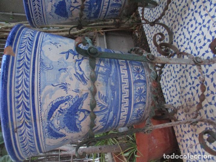 Antigüedades: Pareja de macetones Mensaque (Triana) - Foto 2 - 136219118