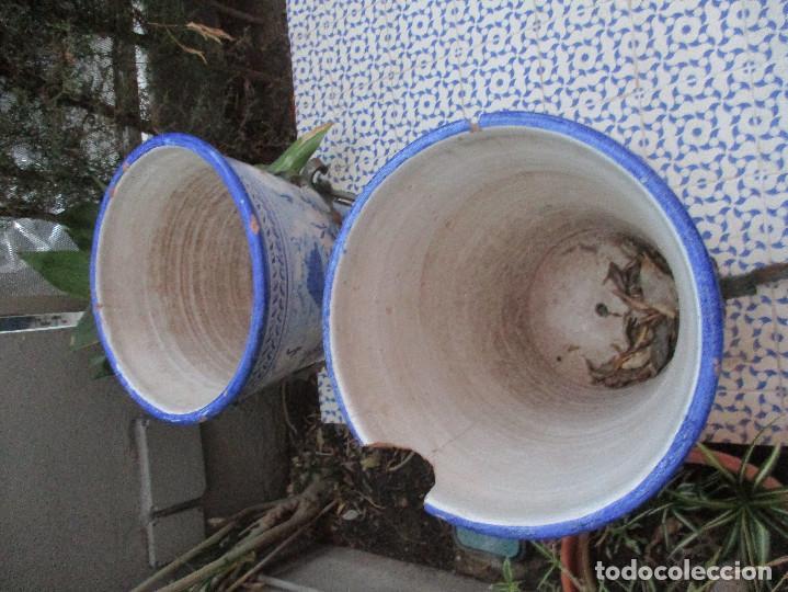 Antigüedades: Pareja de macetones Mensaque (Triana) - Foto 3 - 136219118