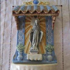 Antigüedades: BENDITERA CERAMICA SIGLO XIX. Lote 136220274