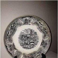 Antigüedades: PAREJA DE PLATOS CERÁMICA DE CARTAGENA. Lote 136237714