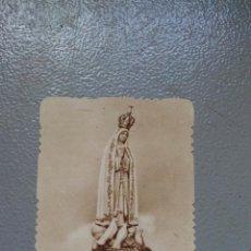Antigüedades: ANTIGUA ESTAMPA RELIGIOSA AÑOS 30 - NSTRA SRA DEL ROSARIO DE FATIMA - IMP. CASA BAÑERES (BARCELONA). Lote 136238506