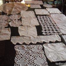 Antigüedades: LOTE 25 PIEZAS DE GANCHILLO ANTIGUOS.. Lote 136282474