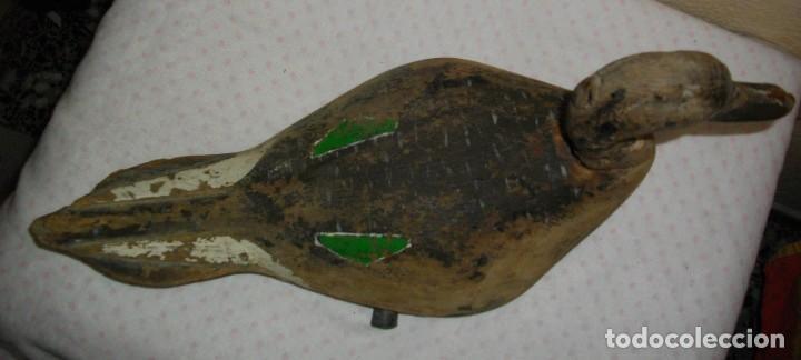 Antigüedades: EXCELENTE RECLAMO DE PATO EN MADERA DE ((( LA ALBUFERA - VALENCIA)) 1800 AÑO - Foto 4 - 136287354