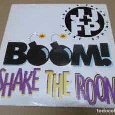 Discos de vinilo: JAZZY JEFF & FRESH PRINCE (MX) BOOM SHAKE THE ROOM +5 TRACKS AÑO 1993. Lote 136290870