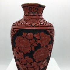 Antigüedades: JARRÓN CHINO LACADO. Lote 136357672