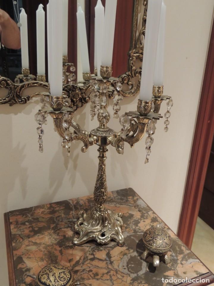 Antigüedades: candelabro bronce 6 brazos - Foto 6 - 136368478