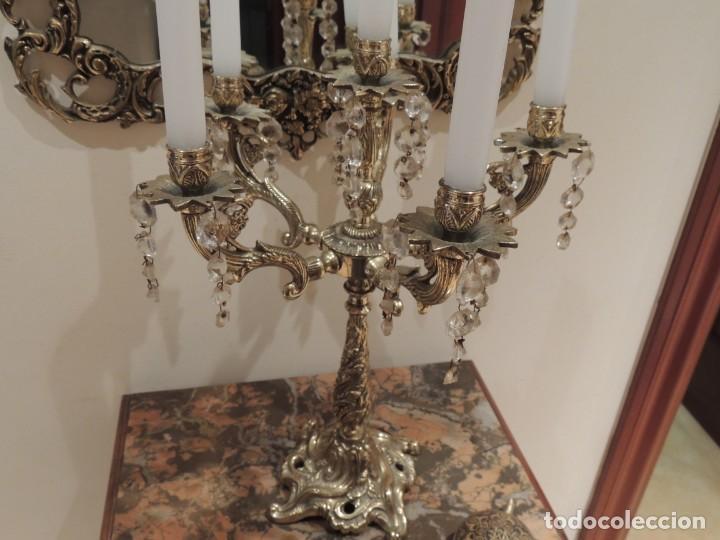 Antigüedades: candelabro bronce 6 brazos - Foto 8 - 136368478