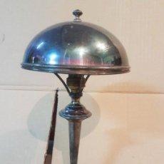 Antigüedades: ANTIGUA LAMPARA DE ALPACA. Lote 136369830