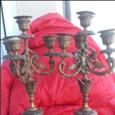 Antigüedades: CANDELABROS CENTENARIOS. Lote 136376450