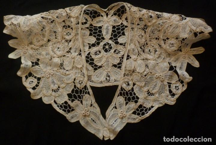 ANTIGUA CAPELINA DE ENCAJE - S.XIX (Antigüedades - Moda - Encajes)