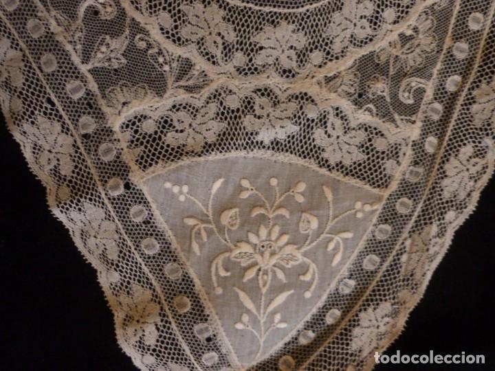 Antigüedades: ANTIGUO TAPETE DE ENCAJE DE NORMANDÍA - PRINCIPIO S. XX - Foto 4 - 136417394