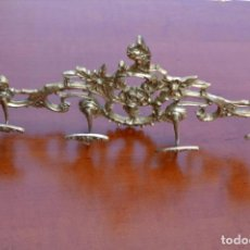 Antigüedades: PERCHERO DE METAL DE CUATRO COLGADORES. Lote 136430258