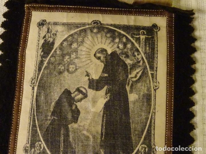 Antigüedades: Enorme escapulario de venerable orden tercera de San Francisco de Asis. franciscanos - Foto 2 - 144700422