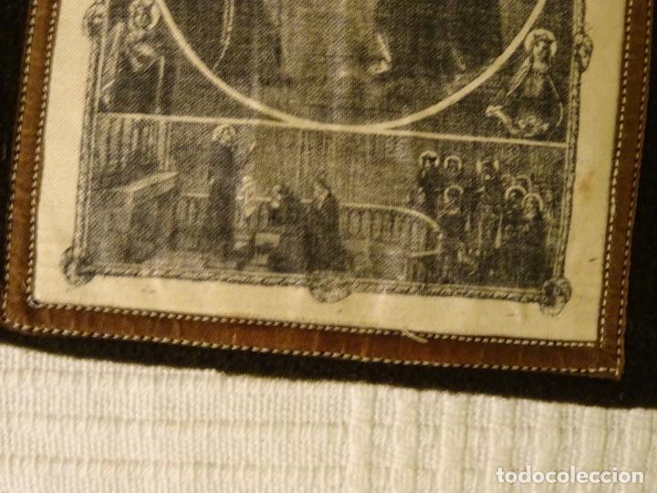 Antigüedades: Enorme escapulario de venerable orden tercera de San Francisco de Asis. franciscanos - Foto 3 - 144700422