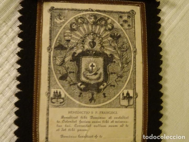 Antigüedades: Enorme escapulario de venerable orden tercera de San Francisco de Asis. franciscanos - Foto 4 - 144700422