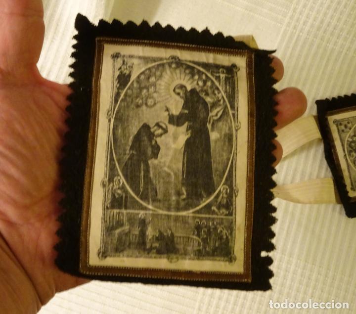 Antigüedades: Enorme escapulario de venerable orden tercera de San Francisco de Asis. franciscanos - Foto 5 - 144700422