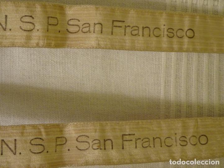 Antigüedades: Enorme escapulario de venerable orden tercera de San Francisco de Asis. franciscanos - Foto 6 - 144700422